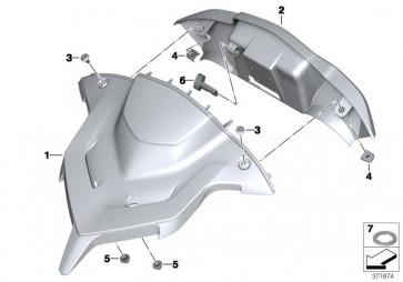 Abdeckung Windschildverstellung ASPHALT-GREY (77318545667)