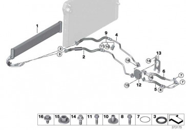Getriebeölkühlerleitung Rücklauf  3er 4er  (17222284698)