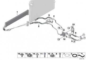 Getriebeölkühlerleitung Vorlauf  3er 4er 2er  (17222284548)