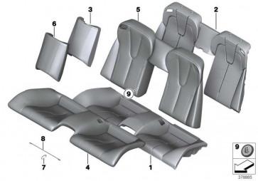 Bezug Sitz Klimaleder X3D8 ARAG.BRAUN 6er  (52208066571)