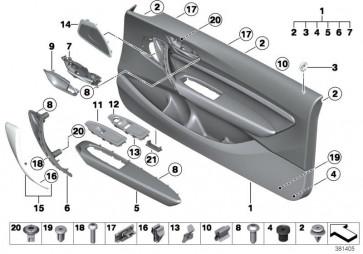 Türverkleidung Stoff/Leder vorn links SCHWARZ (51417341743)
