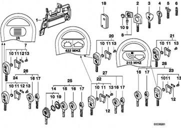 Verschluss mit Schlüssel links CHROM           Z3  (51218401625)