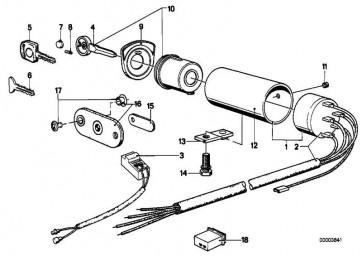 Schliesszylinder mit Schlüssel  3er 5er 6er 7er  (32321108976)
