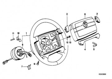 Lenkrad Leder Airbag  3er  (32341157700)