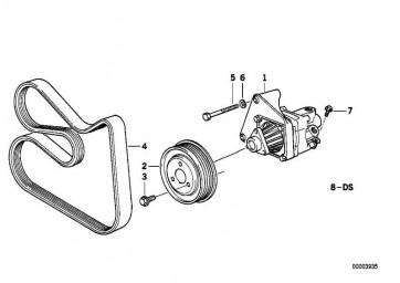 Sechskantschraube mit Scheibe M8X14-Z1 3er 7er Z3  (07119900310)