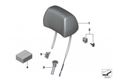 Kopfstütze Komfortsitz Leder rechts LKDZ,X3DZ BEIGE 6er  (52108053060)