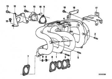 Bundmutter M8              3er 5er 6er 7er 8er Z3 Z8  (07119927022)