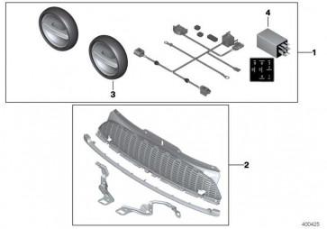 Zusatzscheinwerfer LED SCHWARZ / BLACK MINI  (63122289659)