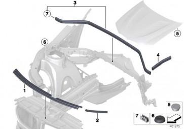 Dichtung Frontklappe hinten seitlich  X3 X4  (51767234371)