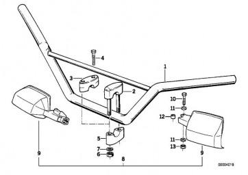 Nachrüstsatz Handschutz weiss  R  (71602303496)