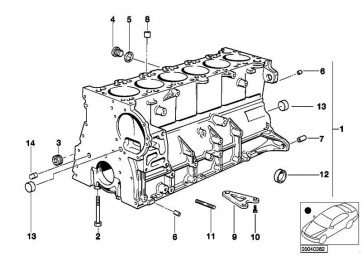 Zylinder-Kurbelgehäuse mit Kolben  3er 5er  (11111438374)