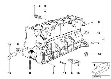 Zylinder-Kurbelgehäuse mit Kolben (11111433067)