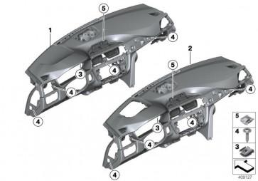 Instrumententafel Leder SCHWARZ/ORANGE (51458057588)