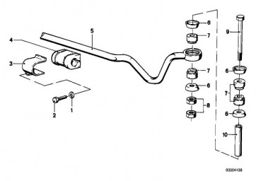 Gummilager Stabilisator D=16MM           3er 5er 6er  (33551103492)