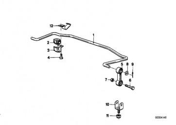 Gummilager Stabilisator D=18MM          5er 6er  (33552225890)