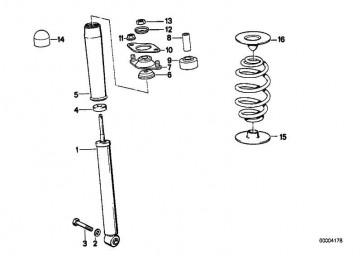 Stossdämpfer hinten BOGE GAS        3er  (33521135636)