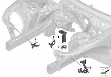 Schliessblech Motorträger links (41007412935)