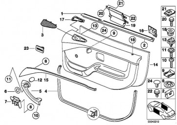 Blende Airbag rechts SCHWARZ         3er Z3  (51418413216)