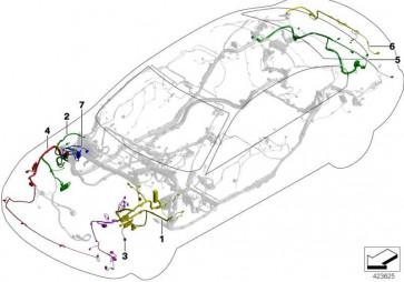 Rep.-Kabelsatz Vorderbaubereich links  3er  (61129238738)