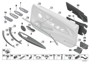 Armauflage Leder vorn links SATTELBRAUN (51417345391)