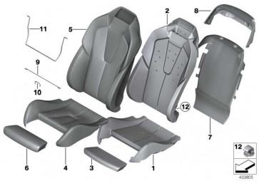 Bezug Komfortlehne hinten Leder links LKDZ,X3DZ BEIGE 6er  (52108053047)