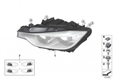 Scheinwerfer LED AHL rechts  3er  (63117419628)