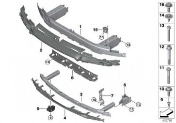 Träger Stossfänger vorn unten M/ ACC 7er  (51118067043)