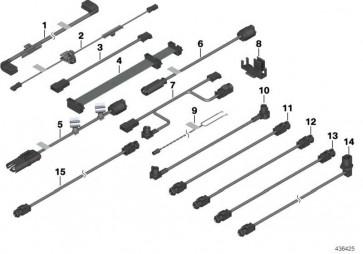 Kabelsatz AUX 1830MM          3er  (61116939453)
