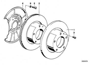Bremsscheibe belüftet 286X22 3er Z3 Z4  (34116855153)