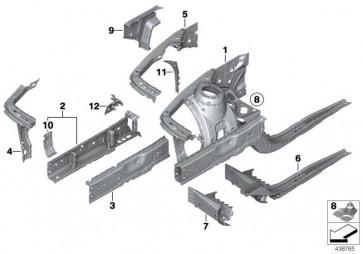 Verlängerung Stützträger Radhaus rechts  1er 3er  (41007321722)