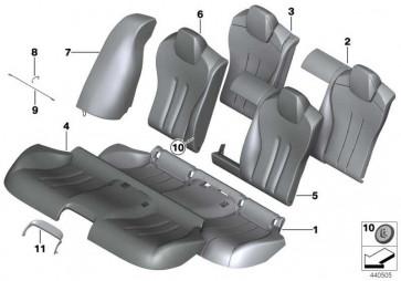 Bezug Sitz hinten Leder LKSW,X3SW SCHW 6er  (52208055456)