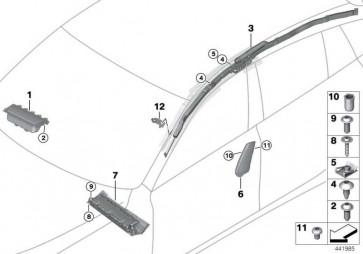 Seitenairbag Sitz vorne rechts ELFENBEINWEISS  6er  (72127285954)