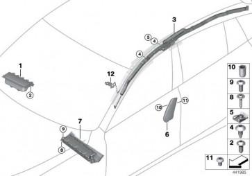 Knieschutz Airbagmodul Beifahrerseite SCHWARZ         6er 5er  (72129181133)