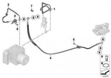 Bremsleitung Bremskreis hinten (34327718190)