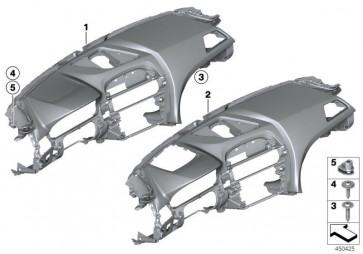 Verkleidung Instrumententafel Leder SCHWARZ         (51459240784)