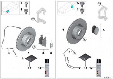 Reparatursatz Bremsbeläge asbestfrei  X3 X4  (34106856191)