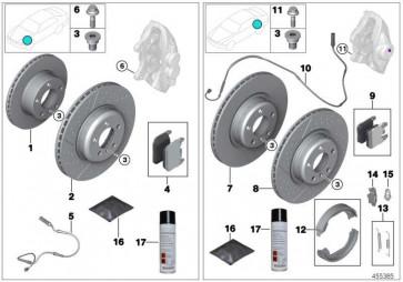 Reparatursatz Bremsbeläge asbestfrei  3er 4er  (34112284970)