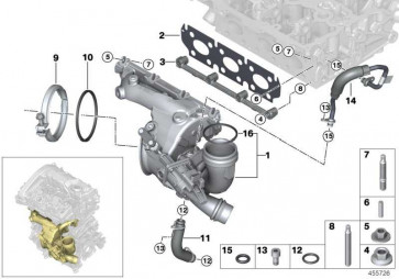 Turbolader mit Abgasskrümmer  MINI 2er X1  (11657636784)