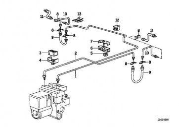 Rohrleitung M10/M10-3462MM 5er 3er  (34326755698)