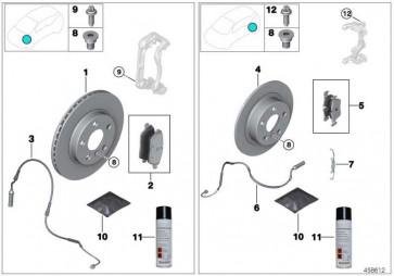 Reparatursatz Bremsbeläge asbestfrei  7er 5er  (34106883510)