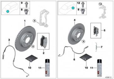 Reparatursatz Bremsbeläge asbestfrei HA (34206885547)