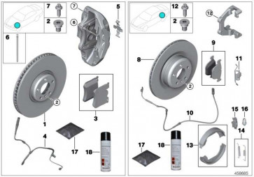 Reparatursatz Bremsbeläge asbestfrei  3er 4er  (34106878878)