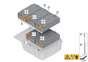 Zellmodul Hochvolt-Batterie 34AH NEG (61278658344)