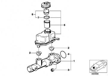 Ausgleichsbehälter mit Warnschalter  5er 7er Z8  (34326758848)