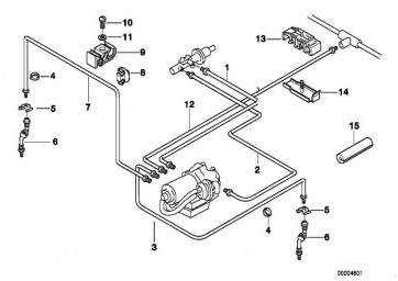 Rohrleitung M10/M12-967MM   3er  (34306755787)