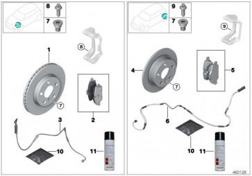 Reparatursatz Bremsbeläge asbestfrei  MINI 2er  (34106884263)