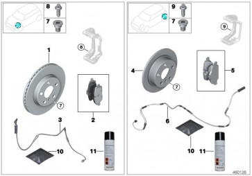 Reparatursatz Bremsbeläge asbestfrei (34206888825)