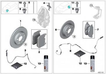 Reparatursatz Bremsbeläge asbestfrei (34206888835)