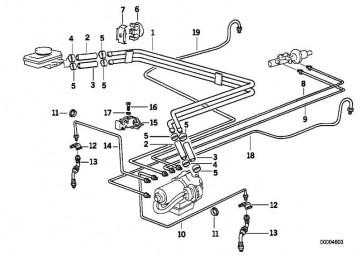Rohrleitung M10/M12-743MM   3er X5  (34326755499)