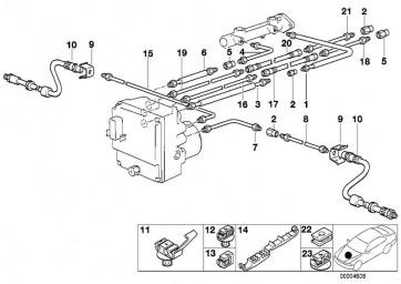 Rohrleitung gummiummantelt M10/M10         (34321164249)